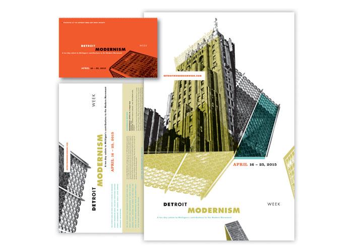 Detroit Modernism Week Promotion by John Latin