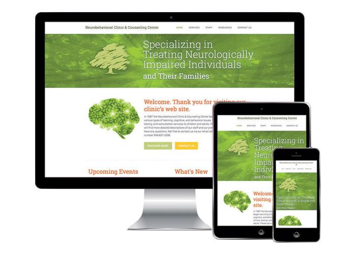 Neurobehavioral Clinic Website Design by Babilon Arts, Inc.