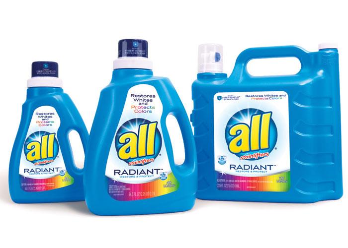 All Radiant Laundry Detergent Branding by BAKER Brand Design