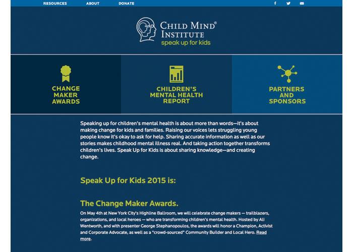 Child Mind Institute Speak Up for Kids Website Design by Child Mind Institute