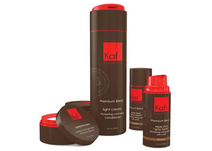 Kaf Grooming Branding & Packaging by Dot Matrix Design Group