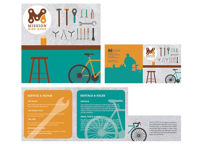 Mission Bike Shop Brochure by Molly Mueller, UC Berkeley Extension
