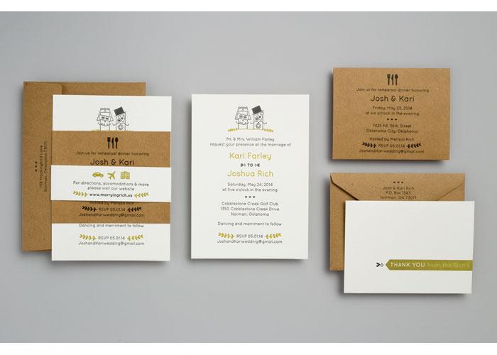 Farley & Rich Wedding Invitation by VGreen Design