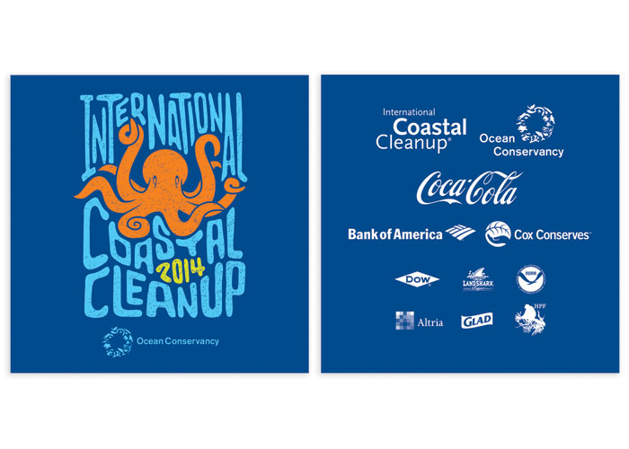 International Coastal Cleanup Logo by Fuszion