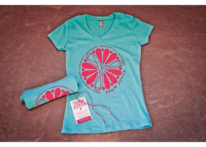 Joyce Van Winkle Memorial Susan G. Komen Walk Team T-Shirt and Seed Pack by How 2 Design