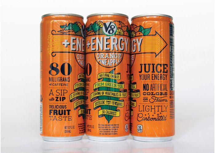 V8+Energy Package Design by Brandimage