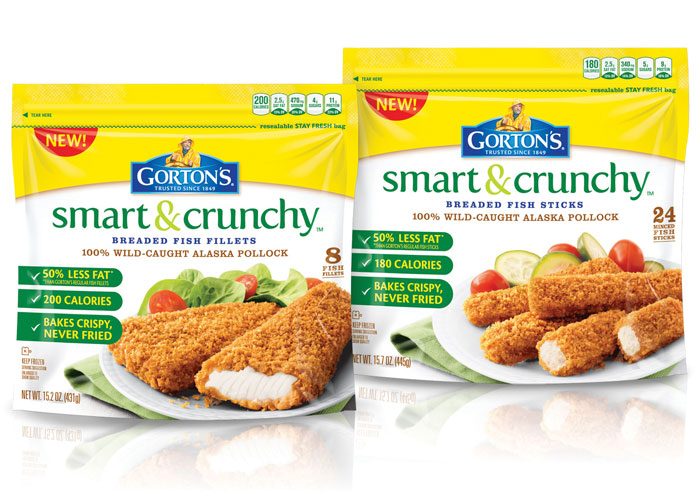 Gorton's Smart & Crunchy Package Design by Cornerstone Strategic Branding