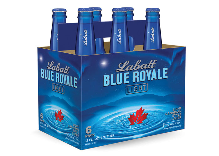 Labatt Blue Royale Light Package Design by Cornerstone Strategic Branding