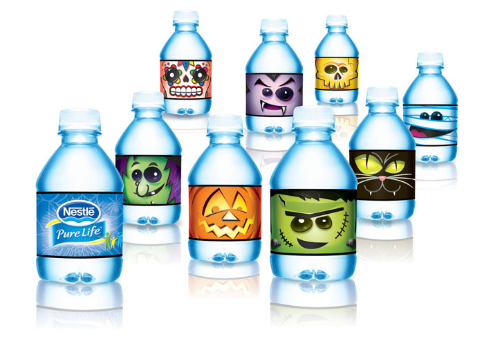 Nestlé Pure Life - Halloween Monster Bottles by Cornerstone Strategic Branding