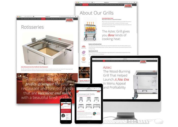 Aztec Grill Website by Benoit Design