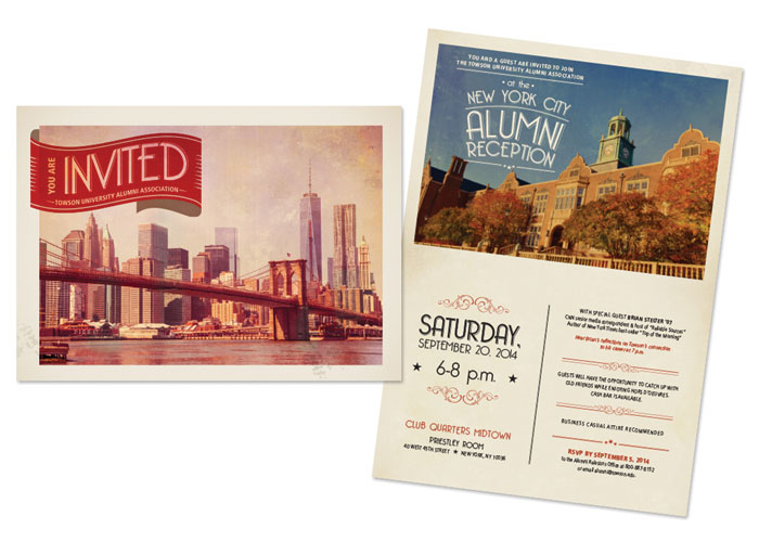 New York City Alumni Reception Invitation by Towson University Creative Services