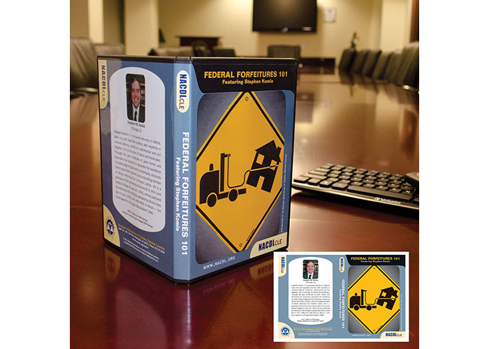 NACDL CLE Federal Forfeitures 101 DVD Package Cover by National Association of Criminal Defense Lawyers (NACDL)