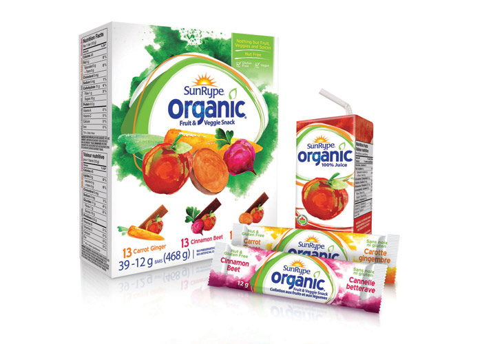 SunRype Organic Fruit & Vegetable Snack by Anthem Worldwide