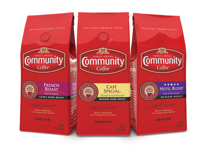 Community Coffee Redesign by Stapley Hildebrand