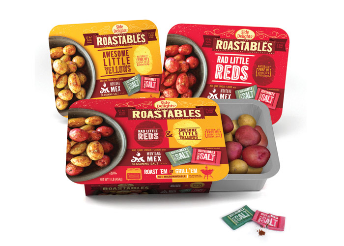Side Delights Roastables Packaging by WFM
