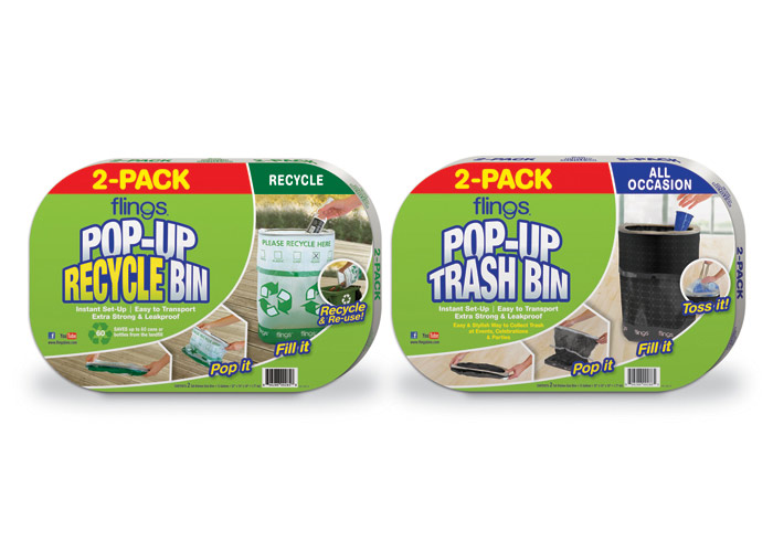 Flings 2-Pack Trash Bin Packaging for Target
