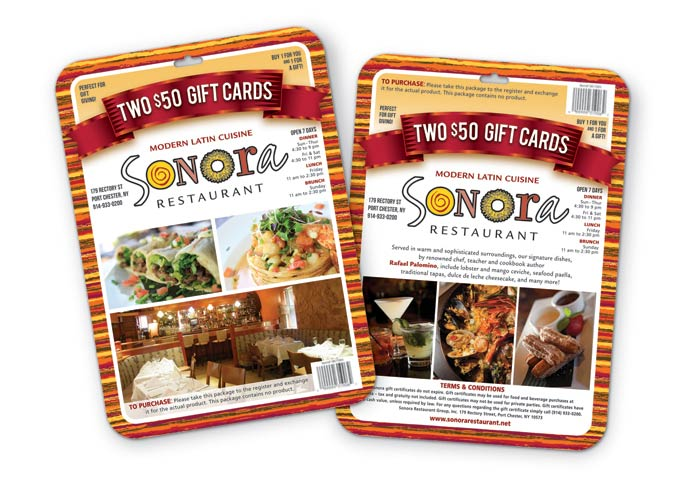 Sonora Restaurant Gift Card Pack for Costco by TFI Envision, Inc.