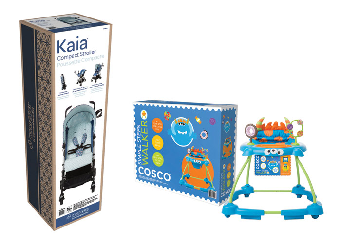 Cosco® Monster Walker & Maxi-Cosi® Kaia Packaging by Graphic Ideation Group-Dorel Juvenile