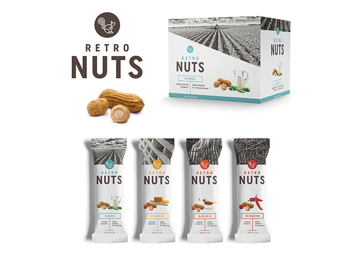 Retro Nuts Packaging by Test Monki
