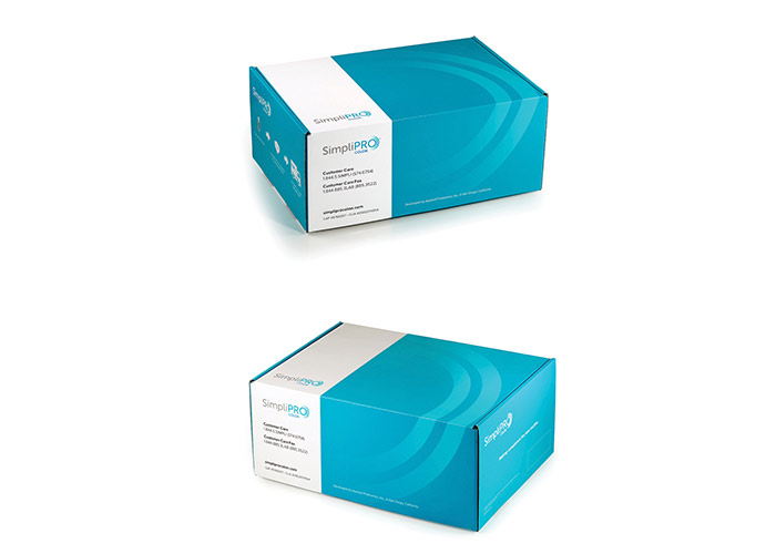 SimpliPro Colon Test Packaging by Russell Creative