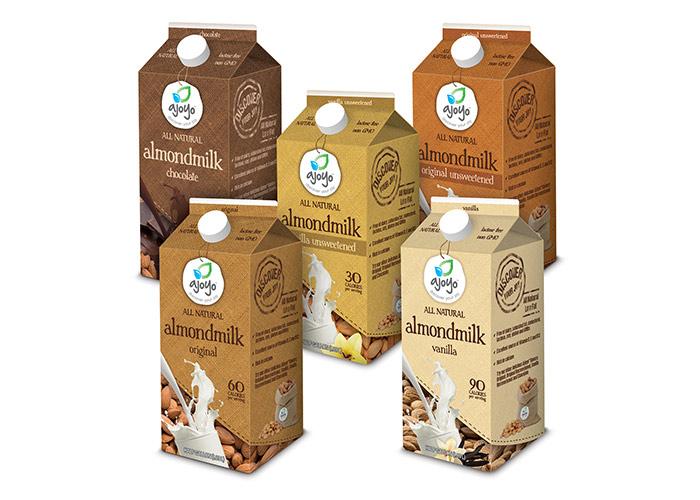 Ajoyo™ Almondmilk Packaging by WhiteSpace