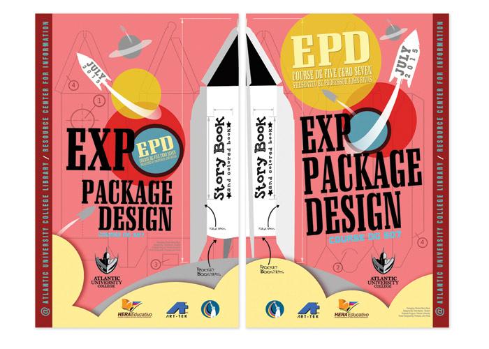 Expo Package Design DG507 Presented by Professor John Rivas at Atlantic University Poster by John Rivas Publicidad