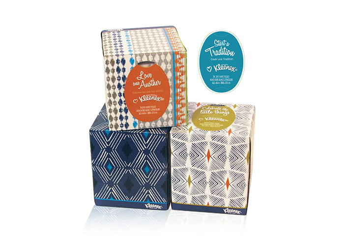 Kleenex Cares Package Design & Messaging
