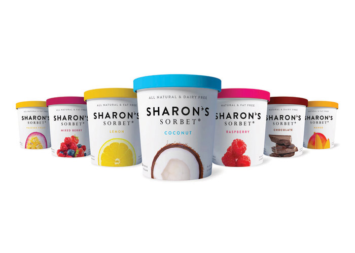 Sharon's Sorbet Package Design by Marine Lane