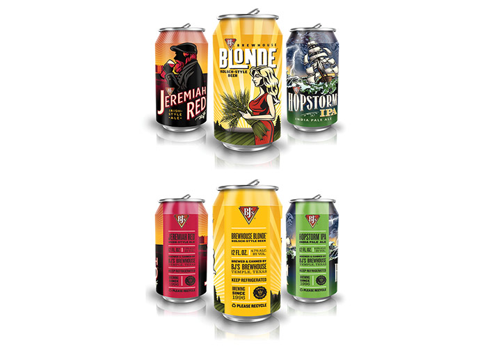BJ's Brewhouse Beer Cans