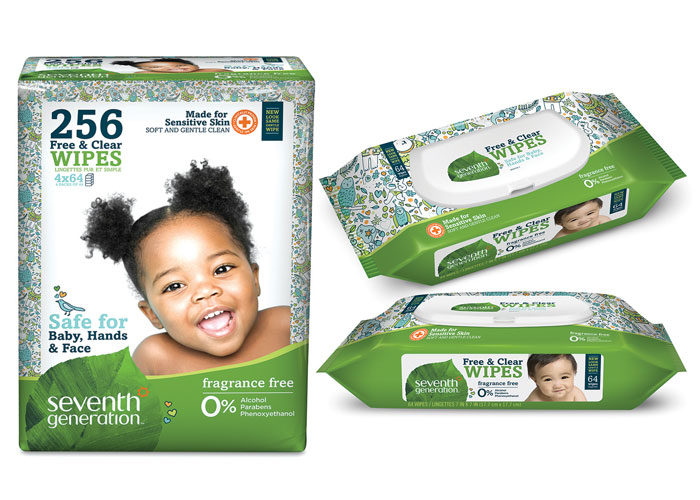 Free & Clear Baby Wipes by Seventh Generation Creative Department