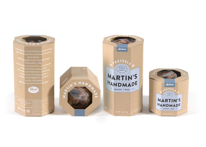 Martin's Handmade Pretzels Identity and Retail Packages by Swerve Inc.