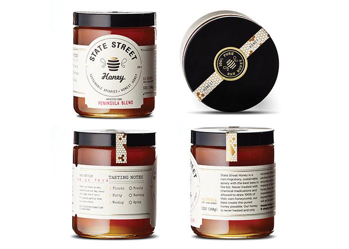 State Street Honey Packaging