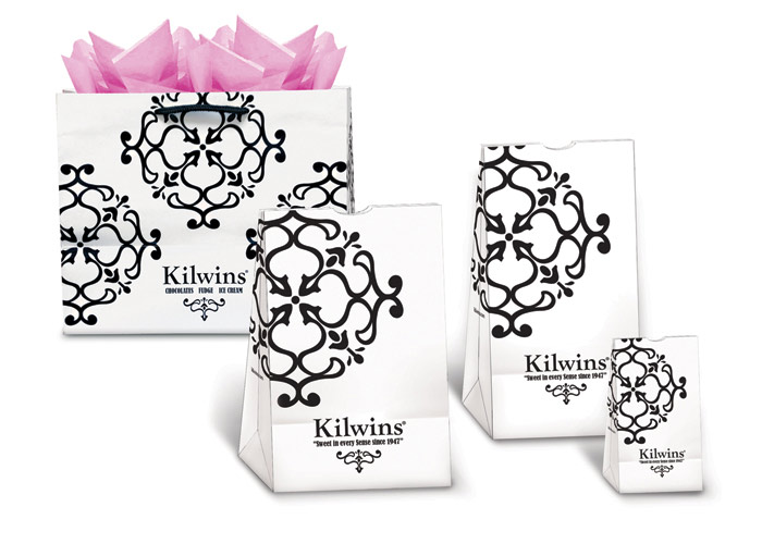 Kilwins Shopping Bags by Carol Sullivan Design