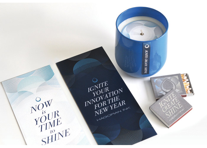 Your Time To Shine Candle Packaging and Collateral by Hagopian Ink