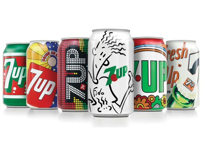 7Up Vintage Cans by PepsiCo Design & Innovation