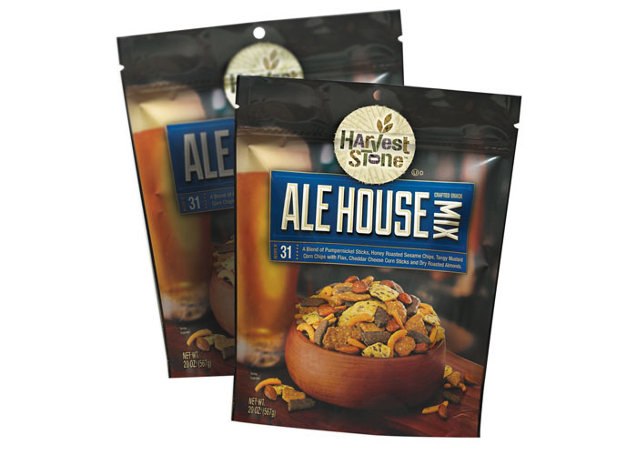 Harvest Stone Ale House Snack Mix Packaging by Design North
