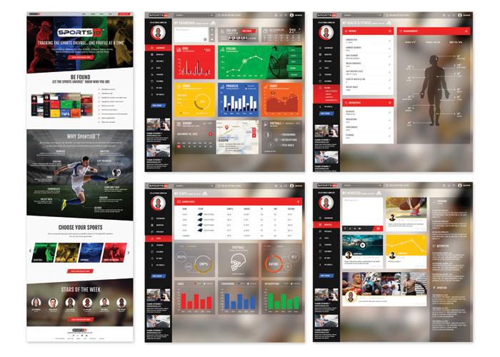 SportsID Web App Design by Creative Juice, LLC