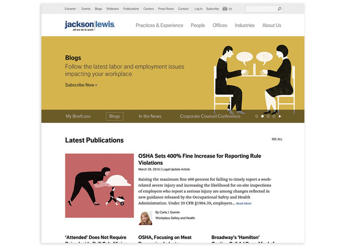 Jackson Lewis Website