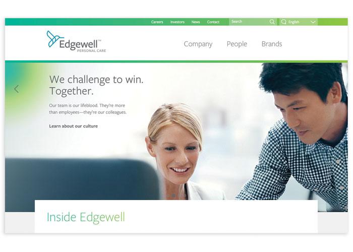 Edgewell Website by Beardwood&Co.