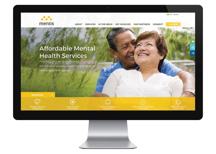 Mentis Website by 5Seven