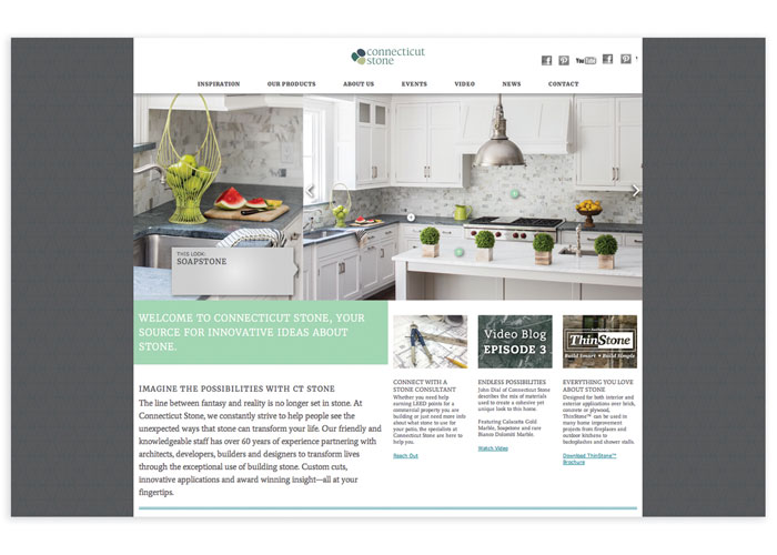 Connecticut Stone Mobile Website by ELEMENTS, LLC