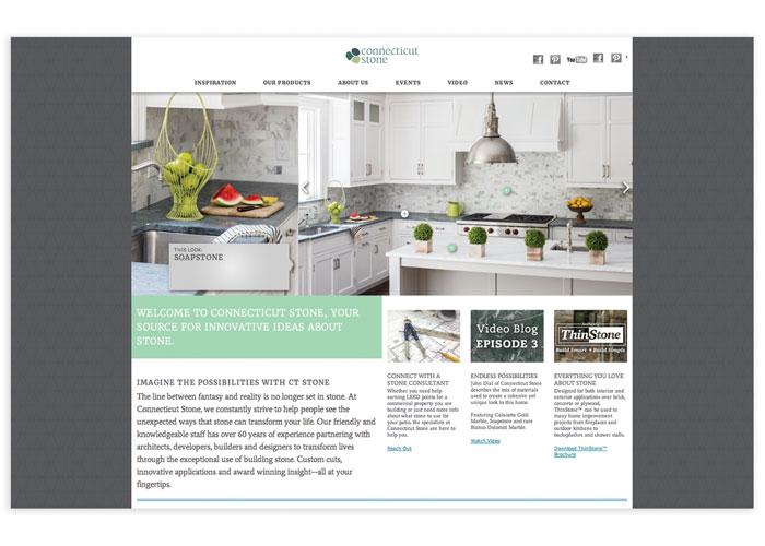 Connecticut Stone Mobile Website by ELEMENTS, LLC