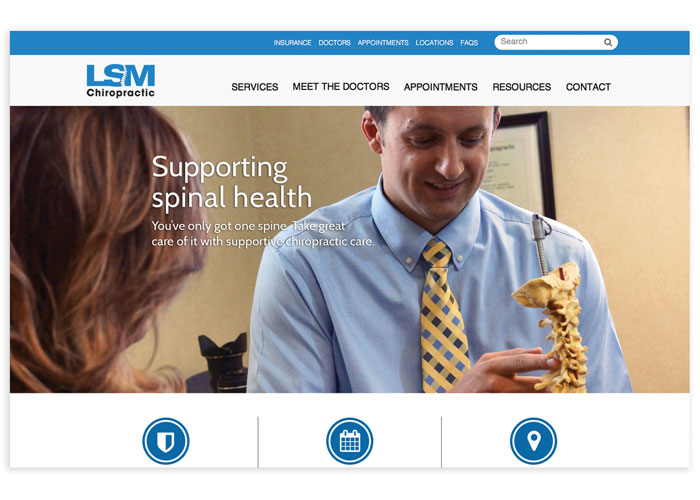LSM Chiropractic Clinic Website by Signalfire, LLC