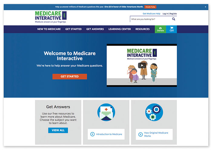 Medicare Interactive Website Redesign