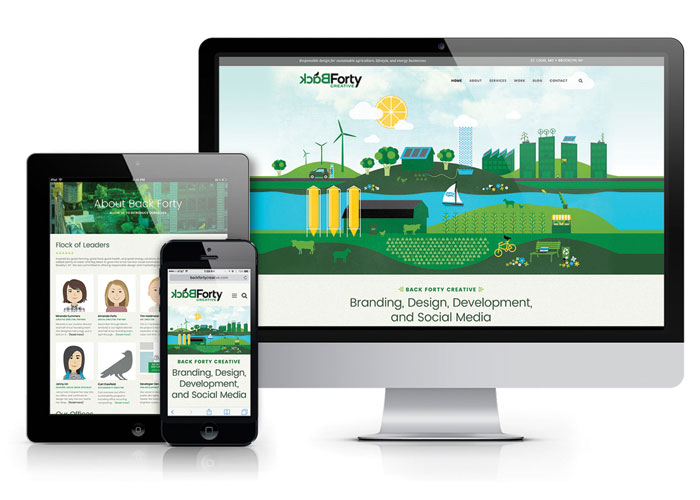 Back Forty Creative Website by Anda Creative