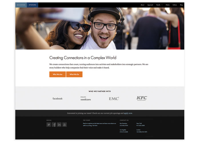 Access Emanate Website by Access Emanate