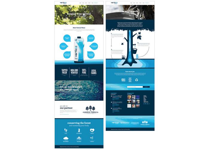 Vertical Water Website by BRIGADE