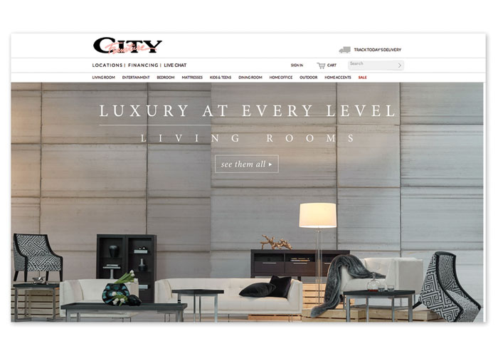 Luxury at Every Level by City Furniture