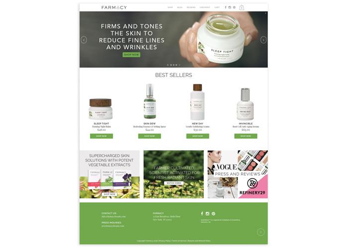 Farmacy Beauty Website by VP+C Partners
