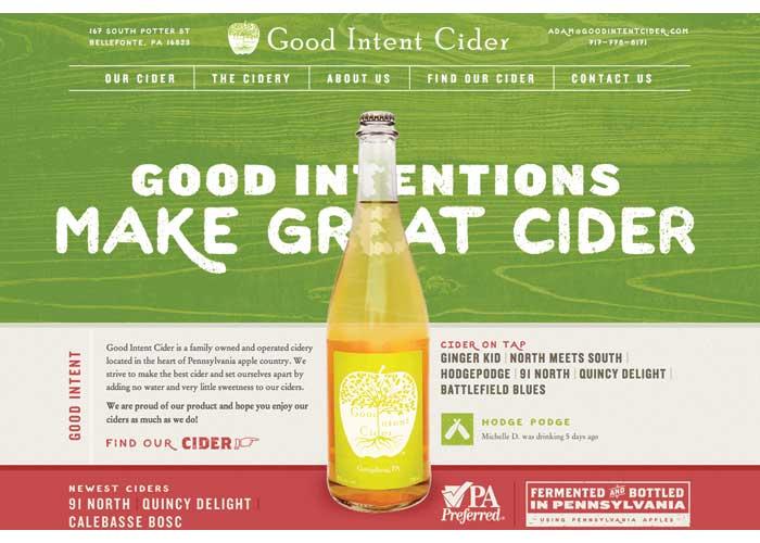 Good Intent Cider Website